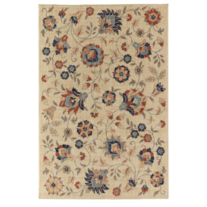 Transitional Floral Multicolor Rectangular: 5 Ft. 3 In. x 7 Ft. 10 In. Rug