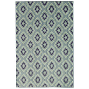 Casual Geometric Blue Rectangular: 5 Ft. 3 In. x 7 Ft. 10 In.