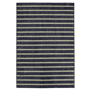 Casual Stripe Gray Rectangular: 3 Ft. 5 In. x 5 Ft. 2 In.
