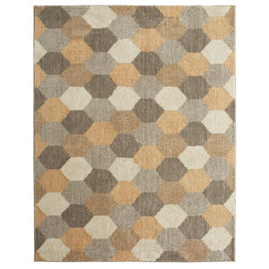 Casual Geometric Gray Rectangular: 3 Ft. 5 In. x 5 Ft. 2 In. Rug