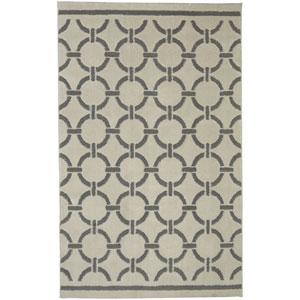 Contemporary Geometric Cream Rectangular: 5 Ft. x 8 Ft. Rug