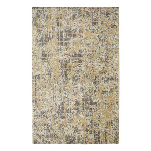 Contemporary Abstract Beige Rectangular: 5 Ft. x 8 Ft. Rug