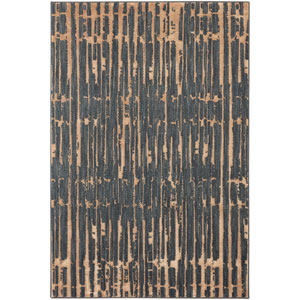 Contemporary Abstract Denim Rectangular: 5 Ft. 3 In. x 7 Ft. 10 In. Rug