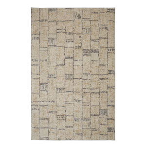 Contemporary Geometric Beige Rectangular: 5 Ft. x 8 Ft. Rug