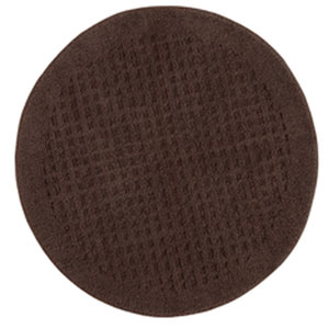 Casual Solid Chocolate Round: 3 Ft. x 3 Ft.