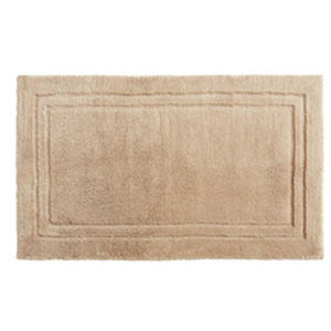 Casual Solid Barley Rectangular: 2 Ft. 6 In. x 4 Ft. 2 In.  Bath Mat