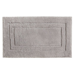 Casual Solid Gray Rectangular: 1 Ft. 8 In. x 2 Ft. 10 In.  Bath Mat