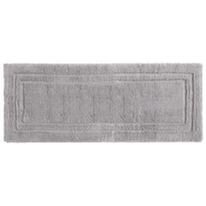 Casual Solid Gray Rectangular: 2 Ft. x 5 Ft. Bath Mat