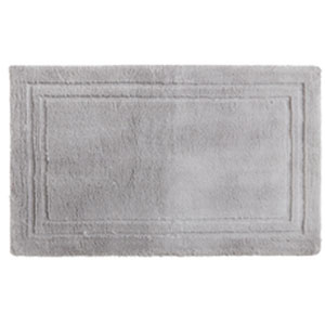 Casual Solid Gray Rectangular: 2 Ft. 6 In. x 4 Ft. 2 In.  Bath Mat