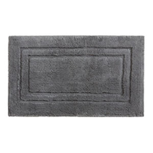 Casual Solid Pewter Rectangular: 1 Ft. 8 In. x 2 Ft. 10 In.  Bath Mat