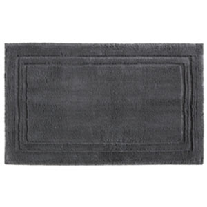 Casual Solid Pewter Rectangular: 2 Ft. 6 In. x 4 Ft. 2 In.  Bath Mat