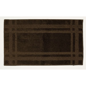 Casual Border Brown Rectangular: 1 Ft. 8 In. x 2 Ft. 10 In. Rug