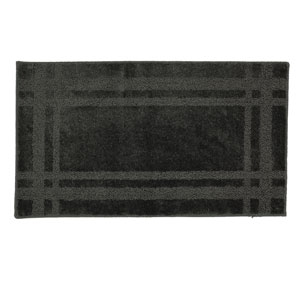 Casual Border Slate Rectangular: 1 Ft. 8 In. x 2 Ft. 10 In. Rug