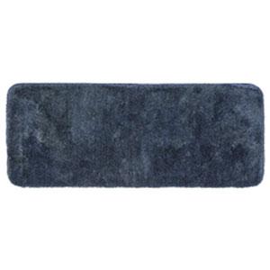 Casual Solid New Blue Rectangular: 2 Ft. x 5 Ft. Bath Mat