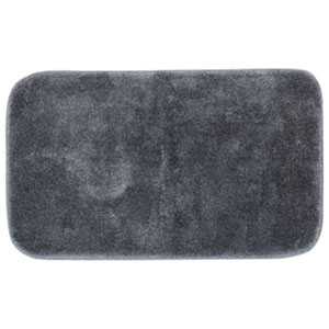 Casual Solid Pewter Rectangular: 2 Ft. x 5 Ft. Bath Mat