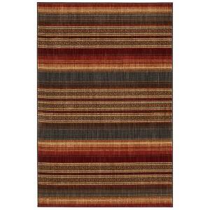 Heritage Canoe Blanket Multicolor Rectangular: 5 Ft. 3 In. x 7 Ft. 10 In. Rug