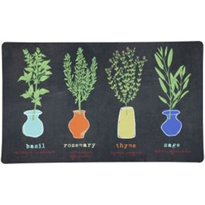 Little Herb Garden Rectangular: 1 Ft. 6-Inch x 2 Ft. 6-Inch Rug