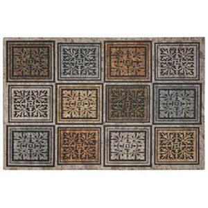 Masonry Foliage Rectangular: 1 Ft. 11-Inch x 2 Ft. 11-Inch Rug
