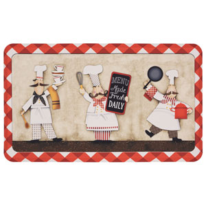 Three Panel Chefs Rectangular: 1 Ft. 6-Inch x 2 Ft. 6-Inch Rug