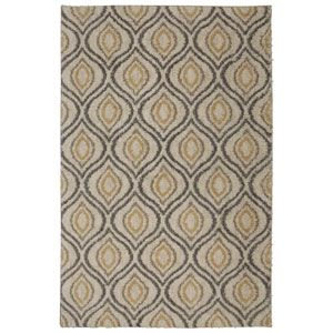 Ogee Waters Tan Rectangular: 5 Ft. x 8 Ft. Rug