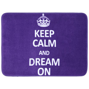 Keep Calm Dream On Purple Rectangular: 1 Ft 5 In x 2 Ft Bath Mat