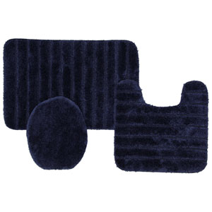 Navy Rectangular: 1 Ft. 8 In. x 2 Ft. 6 In. Bath Rug