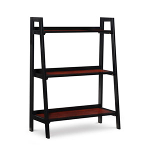 Christopher Black Cherry Three Shelf Bookcase