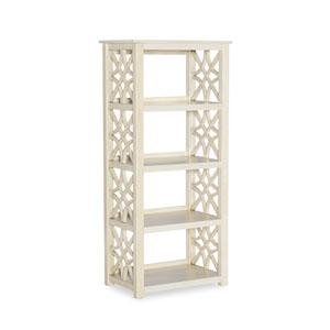 Jonah Antique White Bookcase