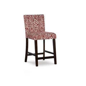 Mackenzie LLevi Red 24-Inch Counter Stool