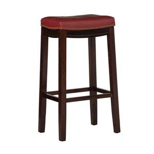 Claridge Red 30-Inch Bar Stool