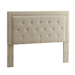 Clayton Natural Upholstered Full/Queen Headboard