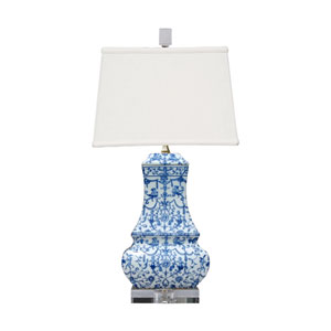 Porcelain Ware Blue and White 24-Inch One-Light Table Lamp