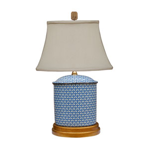 Porcelain Blue and White 20-Inch One-Light Table Lamp