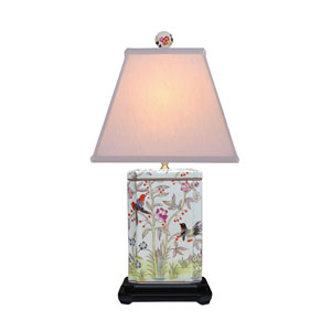 Porcelain Multicolored 25-Inch One-Light Table Lamp