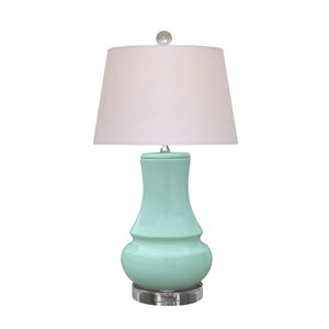 Porcelain Spa Blue 23-Inch One-Light Table Lamp