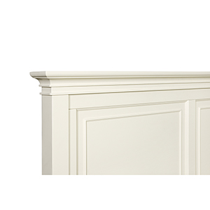 Ashby Patina White Finish w/Contrasting Fired Nickel Hardware King Panel Headboard Only
