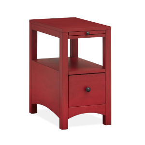 Red Wood Chairside End Table