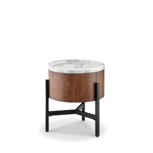 Brown Wood Chairside End Table