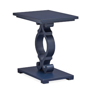 Weathered Navy Wood Chairside End Table