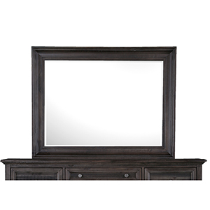 Calistoga Mirror in Weathered Charcoal