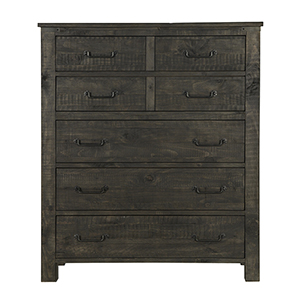 Abington 5 Drawer Chest in Weathered Charcoal