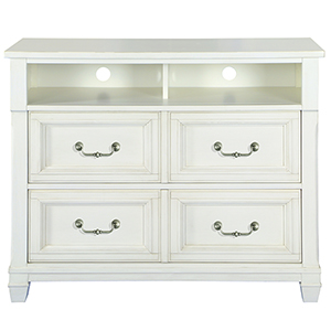 Brookefield 2 Drawer Cotton White Media Chest
