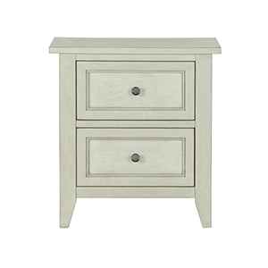 Raelynn 2 Drawer Nightstand in Weathered White