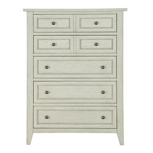 Raelynn 5 Drawer Chest in Weathered White
