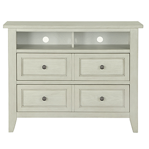 Raelynn 2 Drawer Media Chest in Weathered White