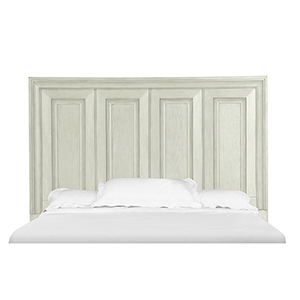 Raelynn Panel Bed Headboard in Weathered White - Queen
