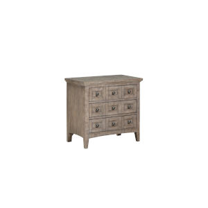Paxton Place Dove Tail Grey Wood Drawer Nightstand