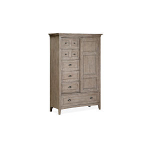 Paxton Place Dove Tail Grey Wood Door Chest
