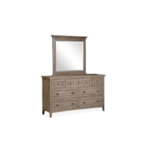 Paxton Place Dove Tail Grey Wood Drawer Dresser