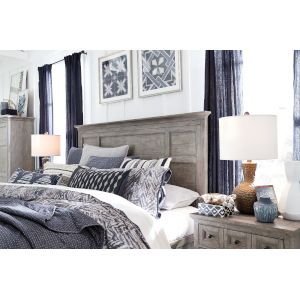 Paxton Place Dove Tail Grey King Panel Bed Headboard